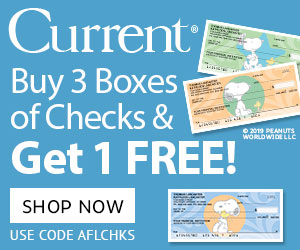Buy 3 Boxes of Checks, get 1 FREE! $22.99 value!  Use code AFLCHKS
