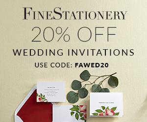Save 20% on Wedding Invitations!  Exp. 10/31.  Use code AFLWD20